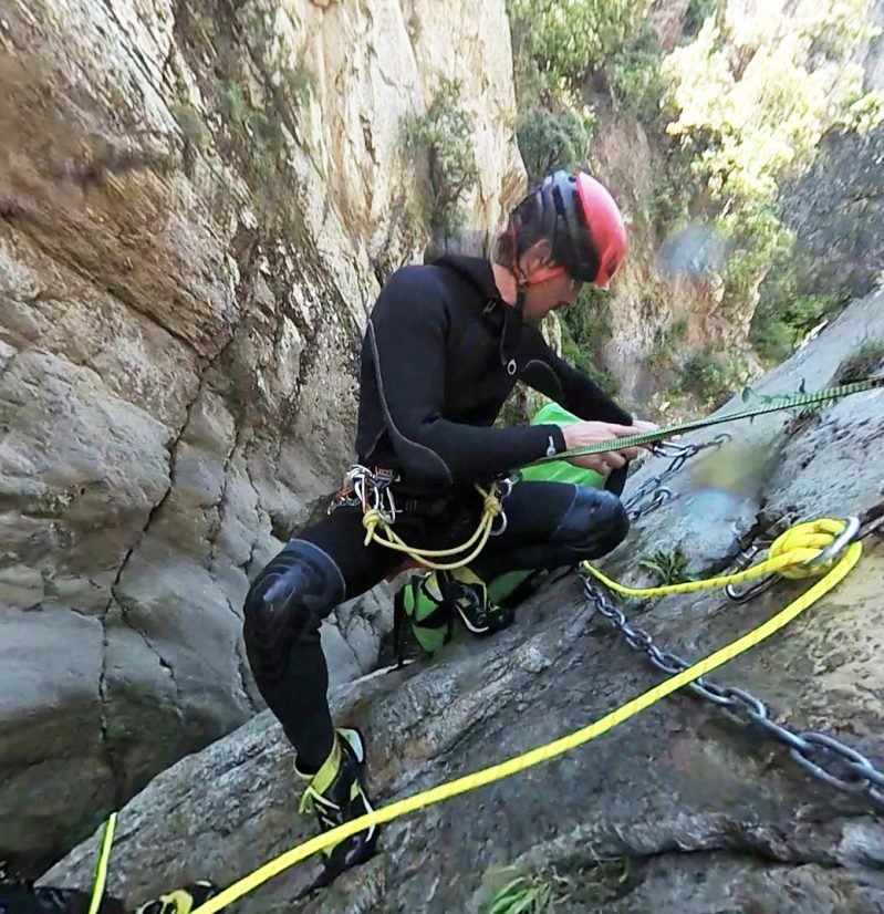 Adrien Moniteut canyoning